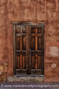 Doorways in Santa Fe, New Mexico