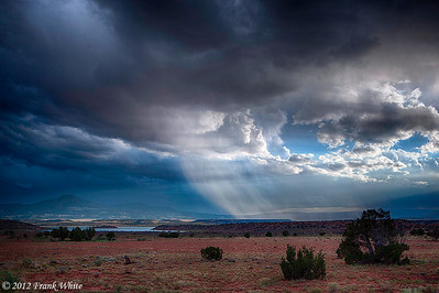 Storm over the desert, near Red Rocks.