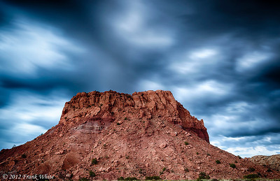 Fast moving clouds over Red Rocks, north of Santa Fe.