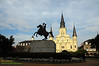 St. Louis Cathedral and Andrew Jackson statue, Jackson Square, New Orleans French Quarter