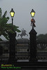Andrew Jackson statue in Jackson Square, New Orleans French Quarter on a foggy morning