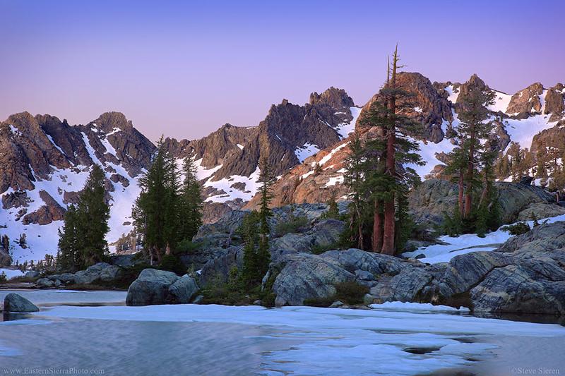 Minaret Lake Ansel Adams Wilderness Eastern Sierra Pines