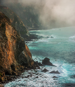 Big Sur Cliffs and Fog