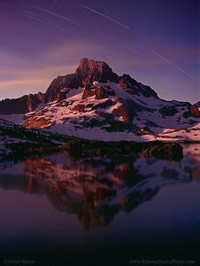 Banner Peak and Mt Ritter Ansel Adams Wilderness 35 mm Film