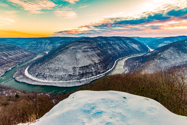 The main overlook at Grandview State Park. I was a few minutes late for an incredible sunrise.