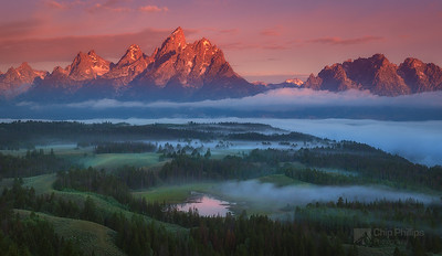 Foggy Sunrise, Grand Tetons