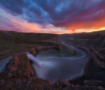 Palouse Falls Spring Sunset