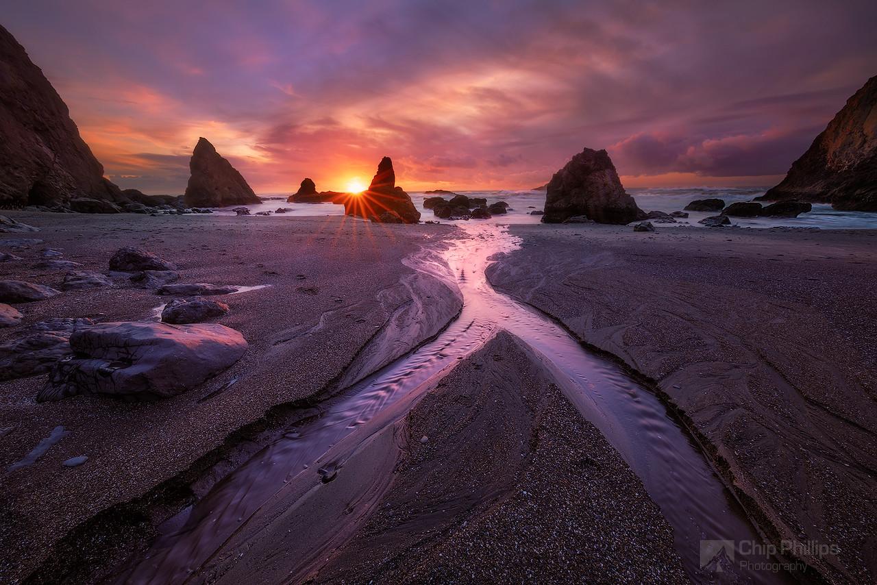 Central Oregon Coast Sunset