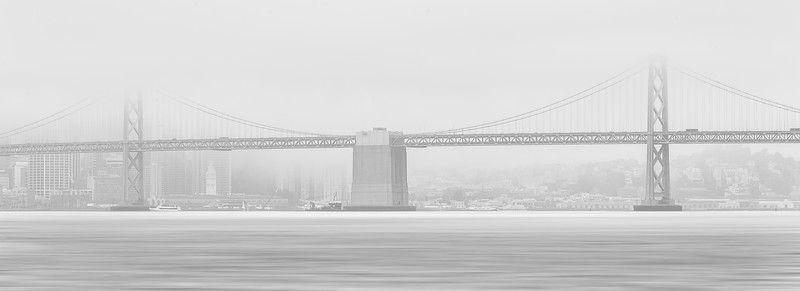 A foggy evening in the San Francisco Bay area last night. No sunset to photograph so I am trying to make lemonade out of lemons I went for a high key black & white interperation of the scene before me.