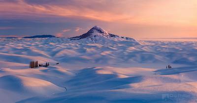 Palouse Winter Sunset Pano