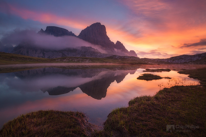 Dolomites Tarn at Sunrise