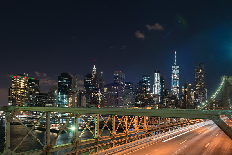 A view from the Brooklyn bridge