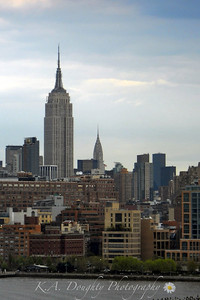View from the Hudson, Empire State Building and the Chrysler Building