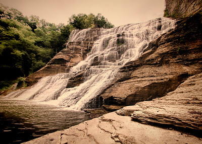 Ithaca Falls IMG_6735 tilt vintage