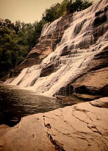 Ithaca Falls IMG_6738 tilt vintage