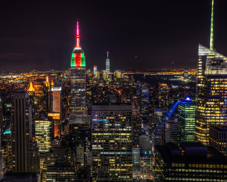 New York Skyline from top of Rockefeller Center