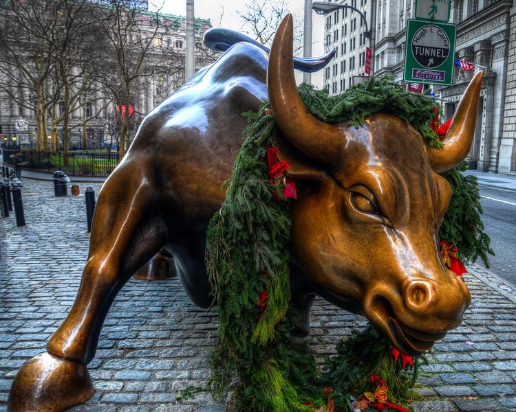 Wall Street Charging Bull