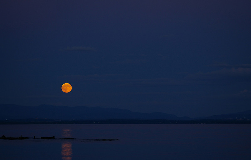 Lake Champlain moonrise