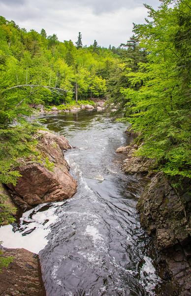 Flowing Stream at High Falls Gorge, Adirondack Mountains