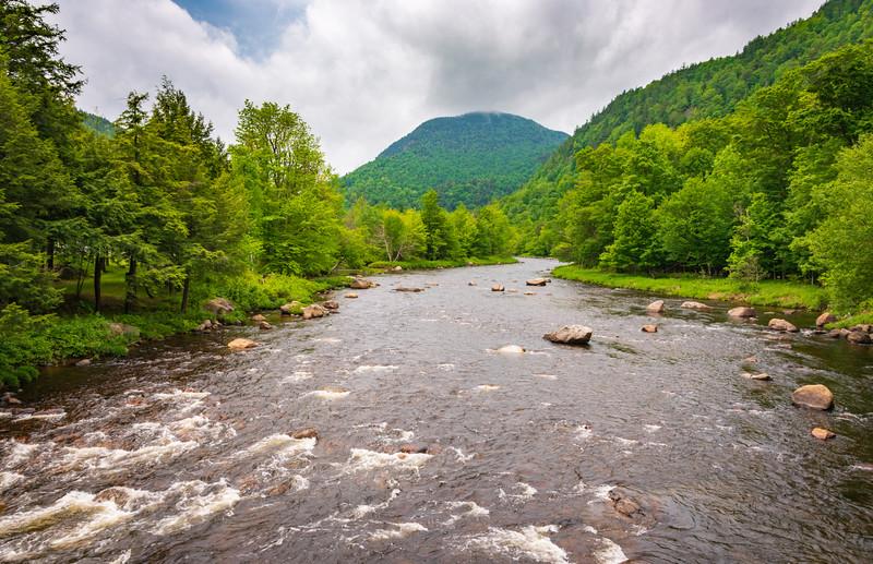 Morning River View, High Falls Gorge, Adirondack Mountains