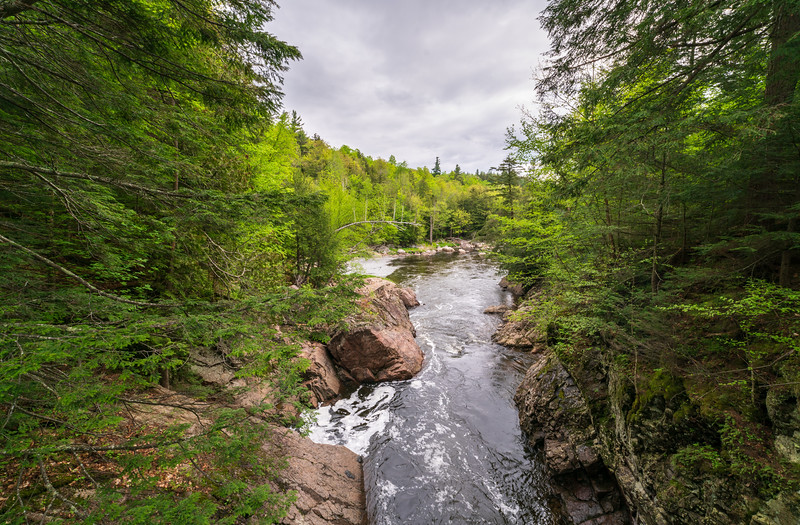 A View Down the River at High Falls Gorge