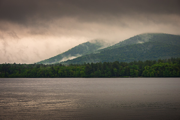 Morning Fog and Mist at the Adirondack Mountains