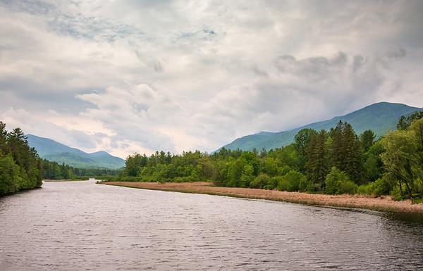 Riverside at Dawn, Adirondack Mountains
