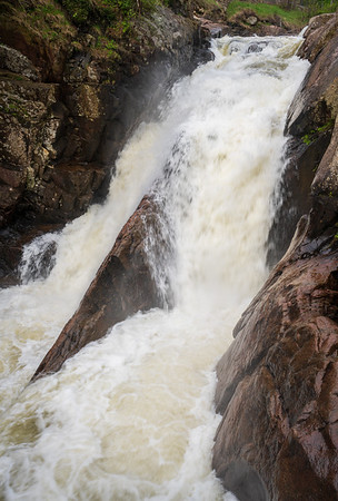 Rapid Flowing Water at the High Falls Gorge