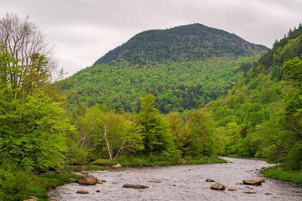 Mountain and River at the High Falls Gorge