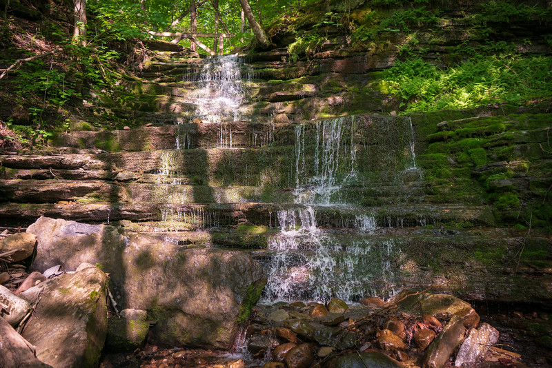 Small Waterfall at Buttermilk Falls State Park