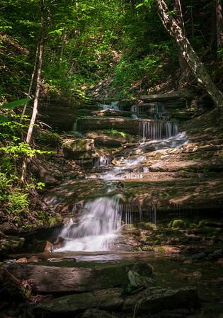 Long Exposure of Buttermilk Falls State Park