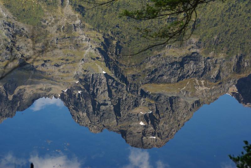 Reflections at Mirror Lake, Fiordland