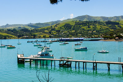 Akaroa Harbor, Banks Peninsula, South Island New Zealand