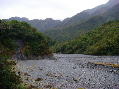 Franz Josef: dry water bed