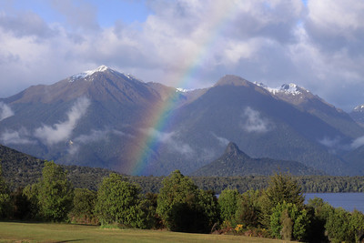 Rainbow over Manapouri, South Island, NZ