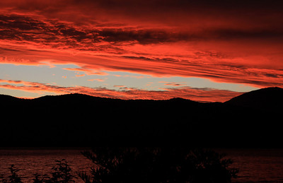 Sunset over Lake Te Anau, South Island, NZ