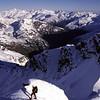 On the summit of Mt Barff