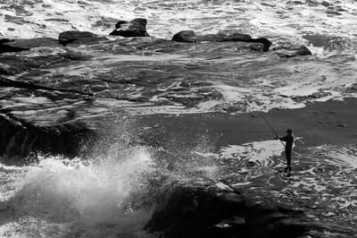 Muriwai Rock Fisherman