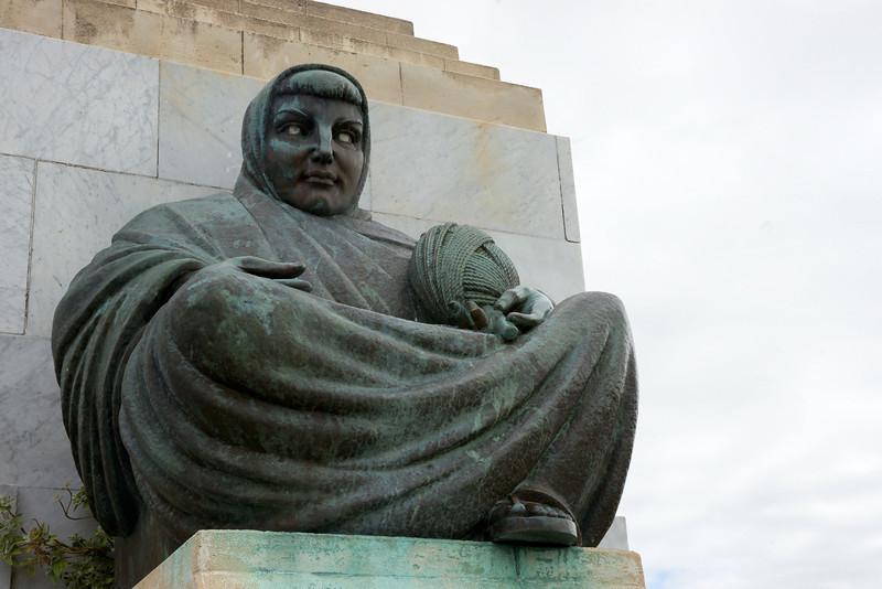 "Signal Hill, Dunedin. ""Threads of Time"" sculpture, representing NZ's future."