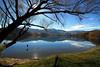 Swings over Lake Hayes.