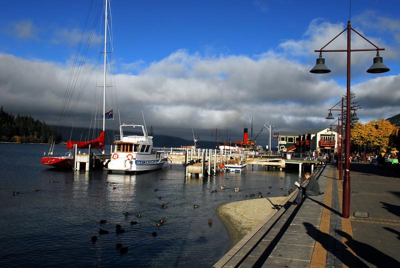 Queenstown wharf.