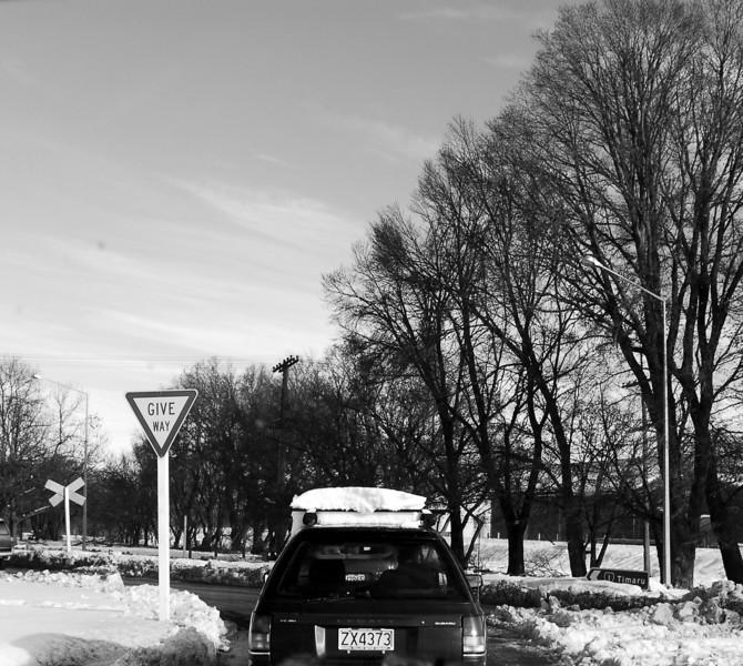 Ashburton Roofrack Load of Snow