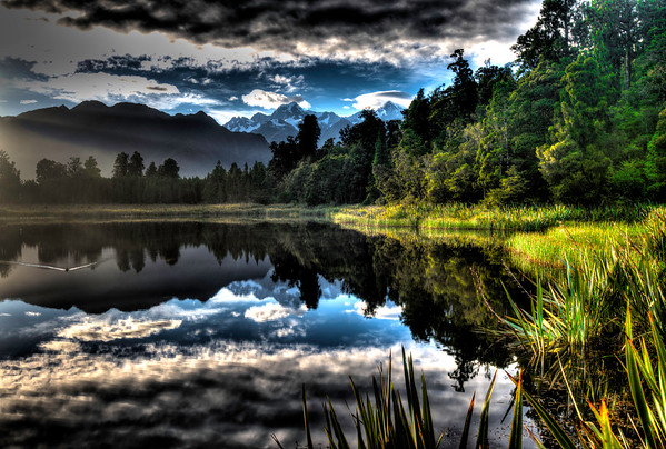 Lake Matheson with Mount Cook View, New Zealand