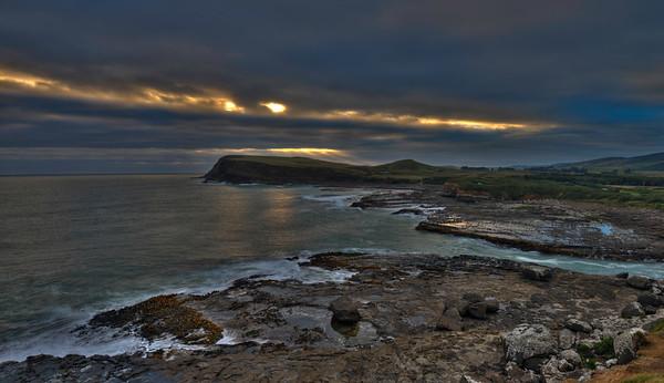 Curio Bay at Sunset, New Zealand