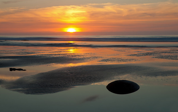 Black Sand Sunset