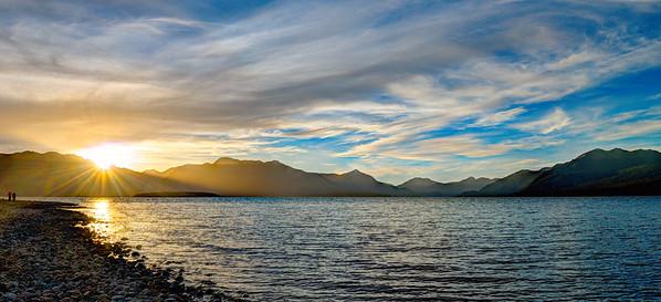 Sunset at Lake Te Anau #1, New Zealand