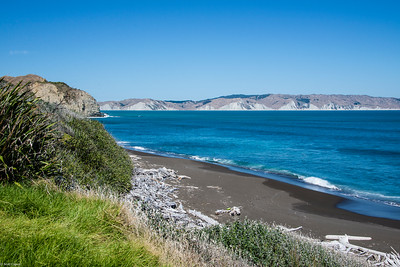 Mahia Peninsula, and a black sand beach