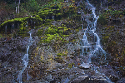 Waterfalls at Cap-bon-ami in Parc National de Forillon