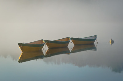 """Dories in Mist"" Amesbury, Massachusetts"
