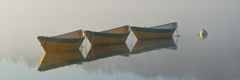 """Dories in Mist II"" Amesbury, Massachusetts"